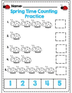 spring time counting part of 30 page packet for kdg common core aligned!