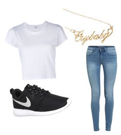 """""""Untitled #99"""" by tia12502 on Polyvore featuring RE/DONE and NIKE"""