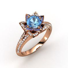 The stone and details in this are too big and too showy for my taste, but the color combinations are exquisite.