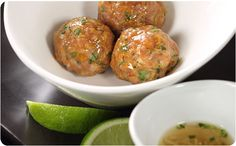 Vietnamese-Style Meatballs - Better Than Bouillon Pork Recipes, Asian Recipes, Cooking Recipes, Ethnic Recipes, Asian Foods, No Cook Appetizers, Appetizer Recipes, Dinner Recipes, Holiday Recipes