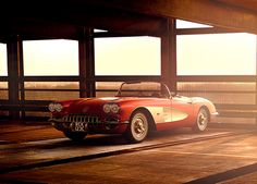 VRED, Corvette C1 Dawn | CGI, Photography, Retouching on Behance