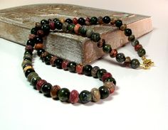 Picasso Jasper Men's Beaded Necklace by Designed By Audrey, $37.00