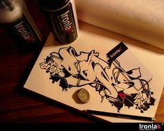 (DOES) This black book sketch has inspired me to do a few of my own Black and White Sketches...(RESQD)