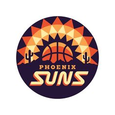 NBA Logo Redesigns: Phoenix Suns designed by Michael Weinstein. Hockey Logos, Sports Team Logos, Phoenix Suns, Badges, Sun Logo, Logo Sign, Badge Design, Logo Concept, Logo Design Inspiration