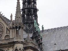 Back pinnacle of Notre Dame