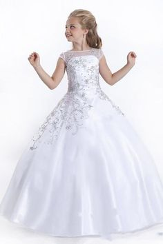 Kids wedding dresses with cap sleeves and beaded sash 2017 pentelei give your little girl the beaded accent capped sleeve soft tulle perfect angels pageant dress flower girl dresses in as a good gift and have her shine like junglespirit Images