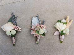 Summer wedding boutonnières