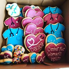 Nurse and Dr cookies Labor Nurse Gift, Delivery Nurse Gifts, Nurse Cookies, Nurse Party, Nurses Week Gifts, Nurse Appreciation Gifts, Medical Gifts, Doctor Gifts, Gifts For Office