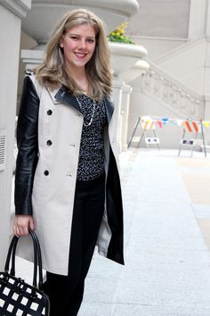 Leather sleeved trenchcoat | Sincerely, Jennie
