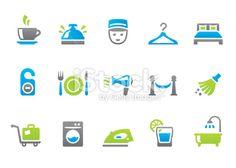 Hotel service iconset