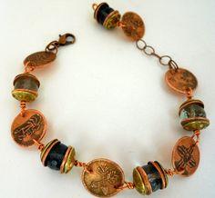 Artisan Handcrafted Copper & Brass Southwestern by jewelrybyDebra, $64.85
