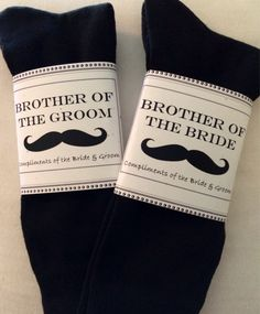 Wedding Gift From Brother To Groom : Fabulous Brother of the Bride and/or Brother of by ColdFeetSocks, USD7 ...
