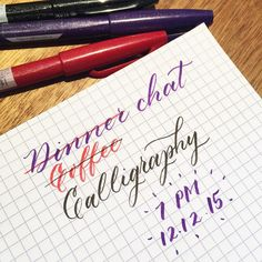 Dinner coffee calligraphy chat with me @happyshop and @handwritten.sg tomorrow at Flock Cafe @ Ghim Moh? Join us if you're free or pop by to say hi! We'll just be catching up and maybe writing some Christmas cards I heard? by artsynibs