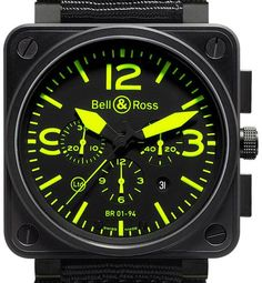 Bell & Ross Chronograph Limited Edition of 500 pieces Black PVD case Delivered with Rubber strap and Nylon Military strap (Alli Amazing Watches, Beautiful Watches, Cool Watches, Watches For Men, Classic Wooden Boats, Bell Ross, Apple Watch Faces, Popular Watches, Watch Companies