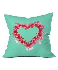 Look at this Lisa Argyropoulos Be Still My Heart Fleece Throw Pillow on #zulily today!