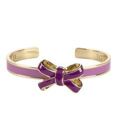 Purple Bow Cuff