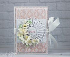 Book-card with rosette - Scrapbook.com - Stunning handmade card.