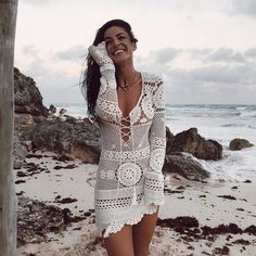 Kylie Rae pictures and photos Hippie Bohemian, Hippie Style, Boho, My Style, Lingerie, Instagram Models, Crochet Clothes, Knit Dress, Lounge Wear