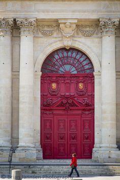Front doors to Saint Paul - Saint Louis Church, Paris France. © Brian Jannsen Photography