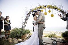 Inexpensive wedding arch :)
