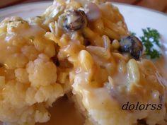 Blog de cuina de la dolorss: Coliflor con salsa de frutos secos (Olla rápida)