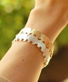 Elephants Row Bracelet, $10