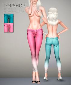 Modern_Lover's Blog || Custom content for The Sims 3: Topshop clothes. Bleach Dipped Skinny Trousers