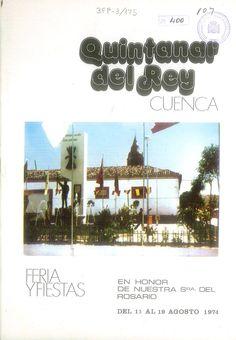 Fiestas en Quintanar del Rey (Cuenca), en honor de la Virgen del Rosario. Del 13 al 19 de agosto 1974. Proyección diaria de películas en los cines Coliseum y Cervantes. #Fiestaspopulares #QuintanardelRey #Cuenca