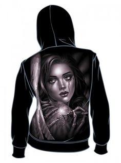 """Women's """"Tat Angel"""" Zip-Up Hoodie by OG Abel #inked #inkedshop #inkedmagazine #hoodies #sweatshirt"""