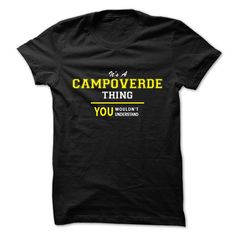 [Hot tshirt name printing] Its A CAMPOVERDE thing you wouldnt understand Free Shirt design Hoodies, Tee Shirts