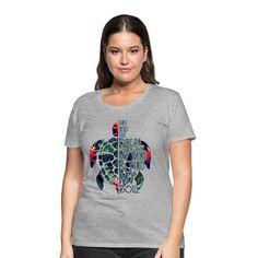 Geschenke Shop | Turtle Ocean - Frauen Premium T-Shirt T Shirt Designs, Turtle, Design Inspiration, Ocean, Shopping, Tops, Fashion, Funny Women, Funny T Shirts