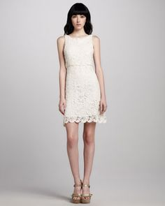 Ingrid Crochet Dress by Alice + Olivia at Neiman Marcus. Plain but pretty
