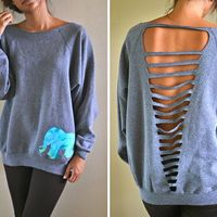 I wanna cut a sweat shirt like this