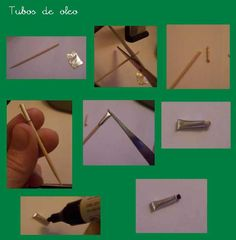Small tubes of paint, toothpaste etc. from paintbrush metal ends | Source: Mundo Recetas