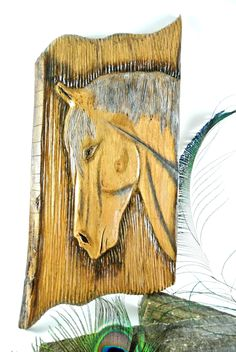 Horse wall hanging project ,carved  , project , horse , hanging , wall , hand caved , git , walnat wood, wood by Artcreationskomatas on Etsy