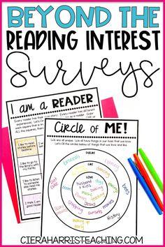 Reading Interest Inventory, Reading Interest Survey, Reading Survey, Reading Assessment, Reading Intervention, Literacy Assessment, Reading Response, 6th Grade Ela, Third Grade Reading