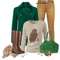 Pea Coat, created by pamlcs on Polyvore