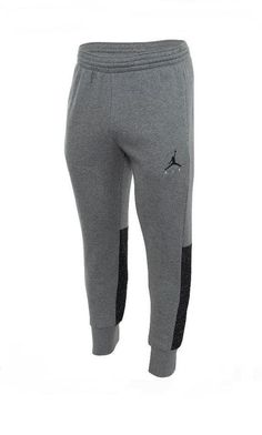 f6accec2055 Nike Men s Jordan Flight Fleece Cement Sweatpants Gray Black 2XL AR2825-091   Nike  ActivewearPants