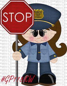 S- SL- POLICE OFFICER ~ Scrapbook Embellishment GNB641