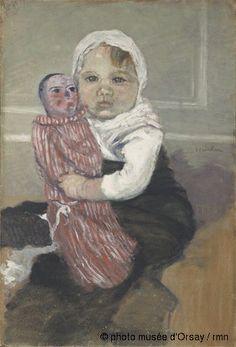 Musée d'Orsay: Notice d'Oeuvre Théophile Alexandre Steinlen L'enfant à la poupée vers 1889