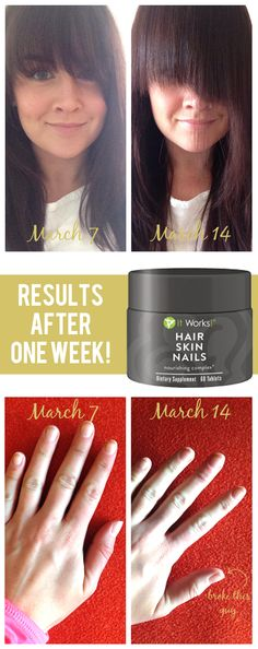 Hair, Skin & Nails Nourishing Complex: growth results after only 7 days!