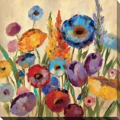 Perfect Garden Hues II' Giclee Stretched Canvas Wall Art