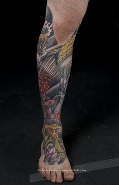 Pics Photos - Koi Lower Leg Tattoo