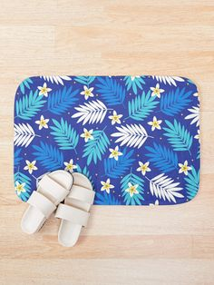 """Palm Leaves Tropical Flowers 