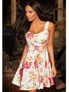Dámské květované šaty LALETO - vícebarevná