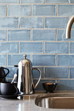 Pretty tile.The Ultimate Guide to Backsplashes via @PureWow
