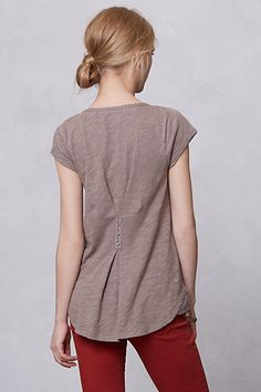 Lace Yoke Tee - Anthropologie  **no longer available**