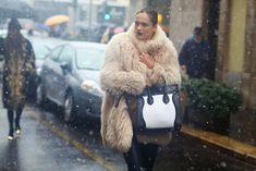 la modella mafia Fall 2013 model off duty street style Karmen Pedaru in Celine via tumblr