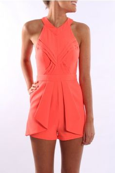 Arabella Playsuit in this gorgeous coral