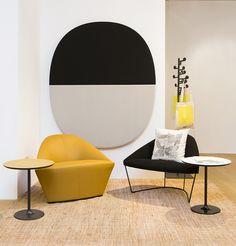 lounge with Colina chairs by Arper Contemporary Interior, Modern Interior Design, Unique Furniture, Furniture Design, Soft Seating, Futuristic Furniture, Office Interiors, Colorful Interiors, Decoration